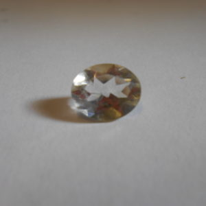 Citrine oval cut gemstone