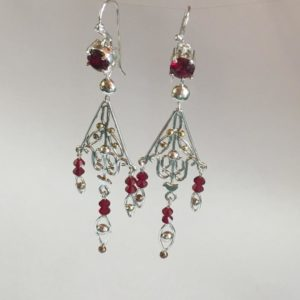 Silver & Swarovski chandelier earrings