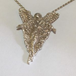 Solid silver Angel pendant